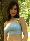 Abrianna Shows Off Her Figure In A Park - Picture 2