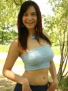 Abrianna Shows Off Her Figure In A Park - Picture 5